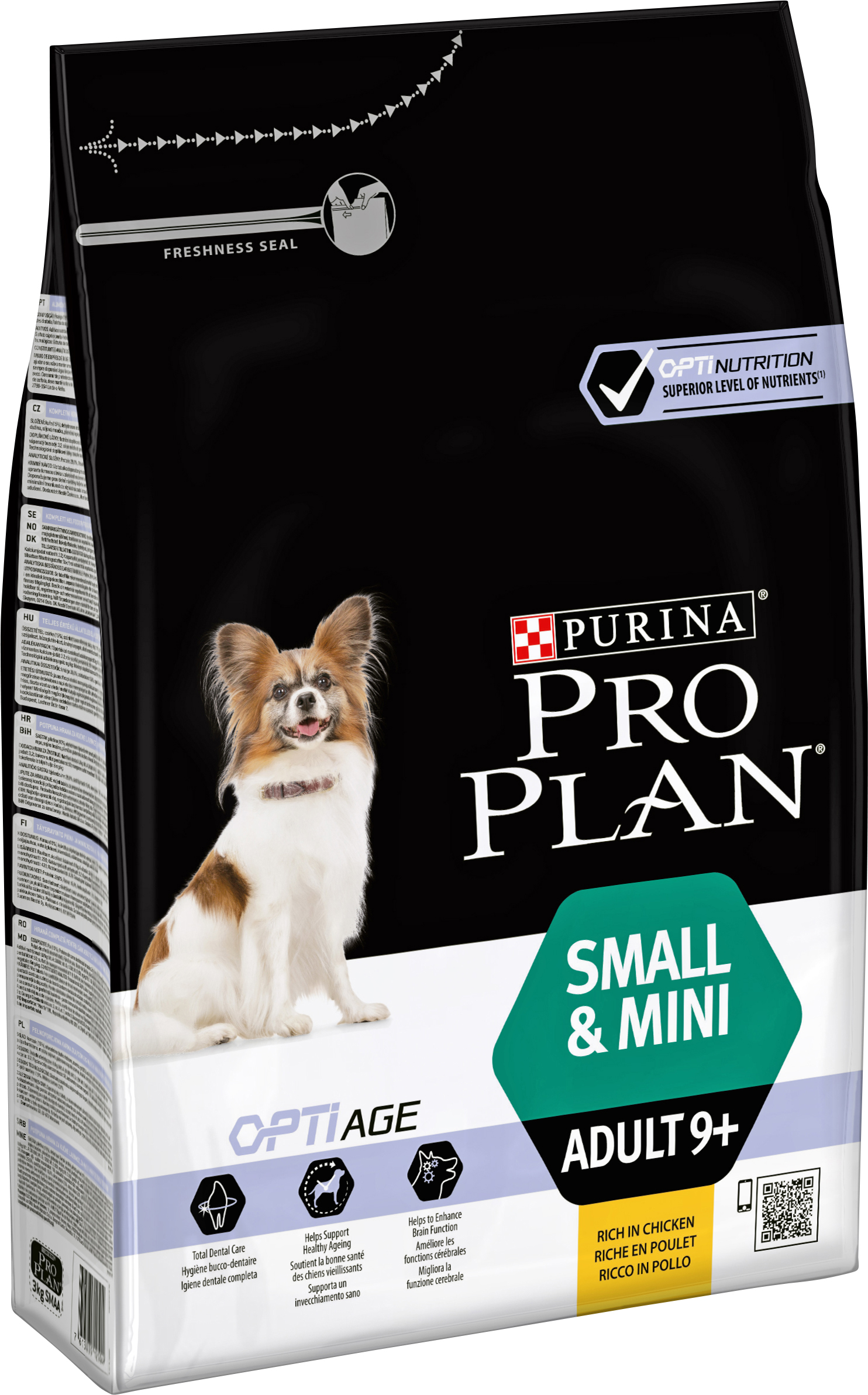 Hundfoder Pro Plan Small & Mini Adult 9+, 3 kg