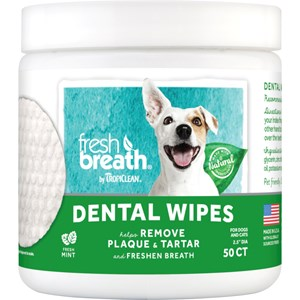 Tandvård TropiClean Tvättlappar, 50-pack
