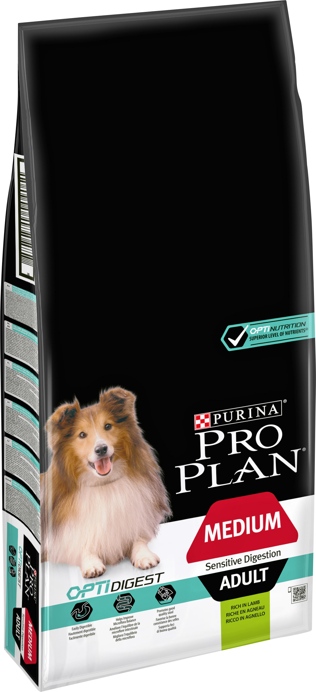 Hundfoder Pro Plan Medium Adult Sensitive Digestion, 14 kg