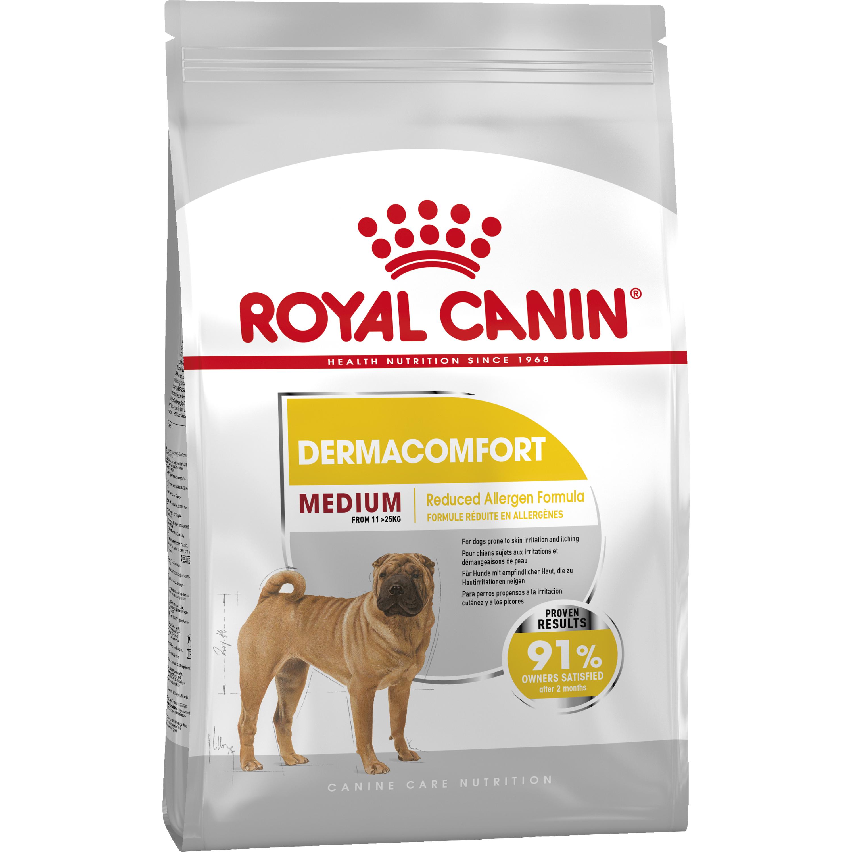 Hundfoder Royal Canin Medium Dermacomfort, 10 kg