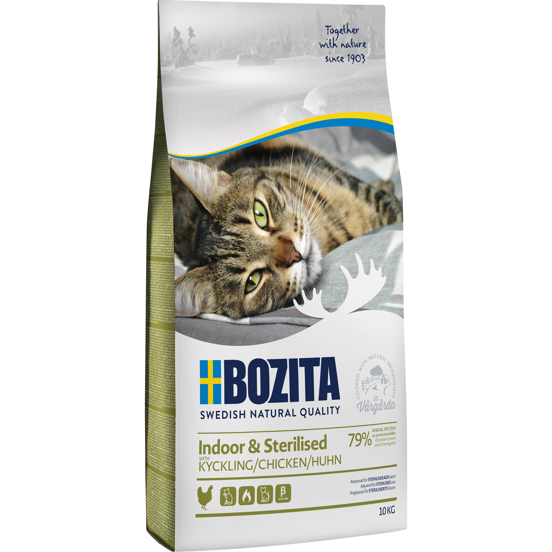 Kattmat Bozita Feline Indoor and Sterilised Kyckling, 10 kg