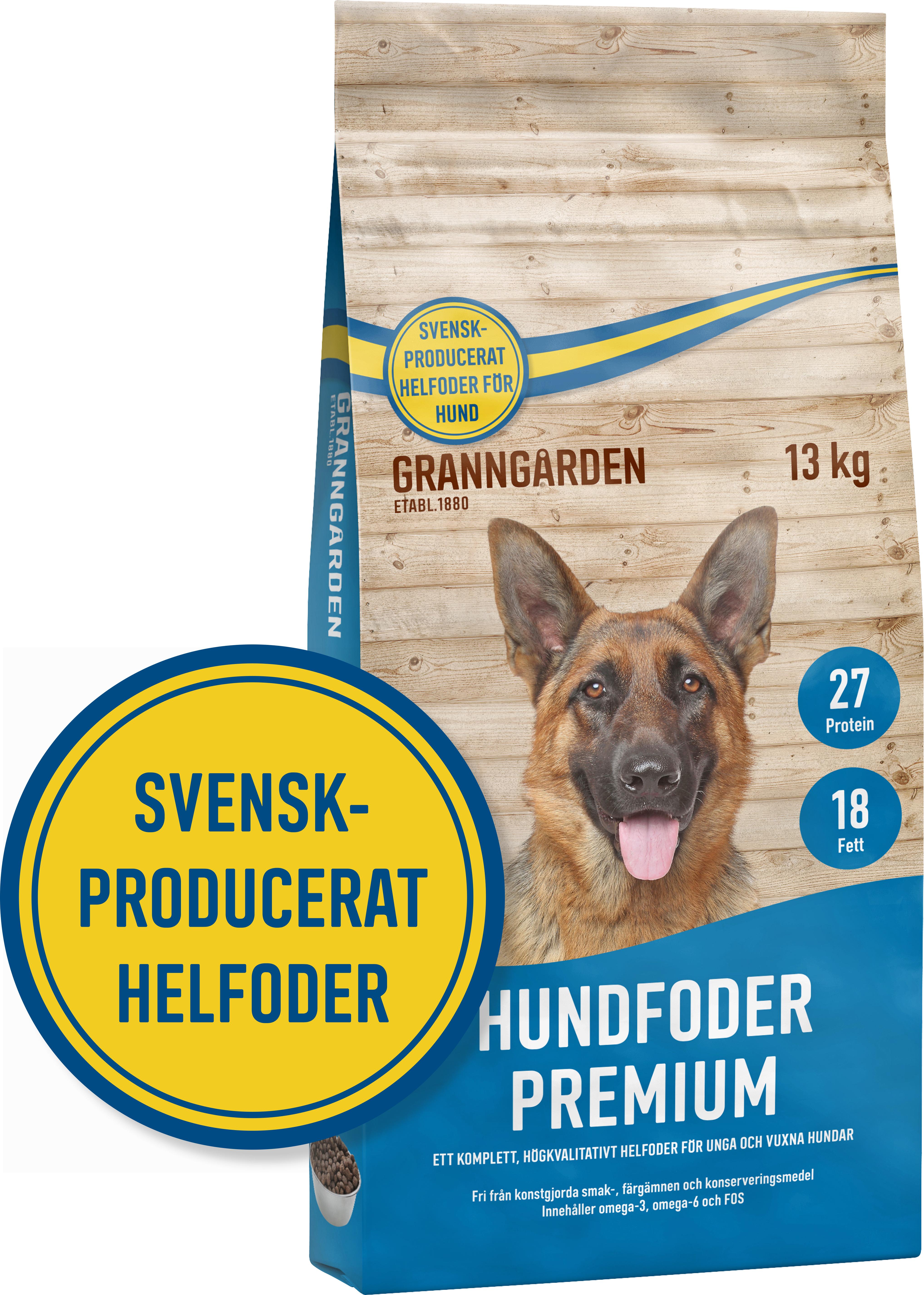 Hundfoder Granngården Premium, 13 kg