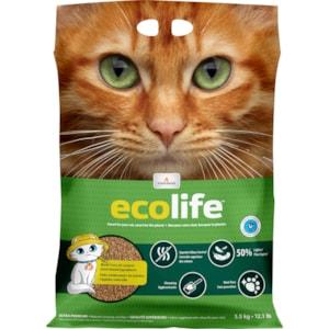 Kattströ Ecolife Intersand Majs/vete, 5,5 kg