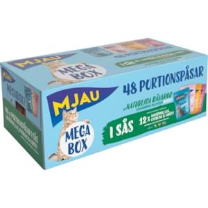 Kattmat Mjau Megabox Kött och Fisk i sås, 4,08 kg