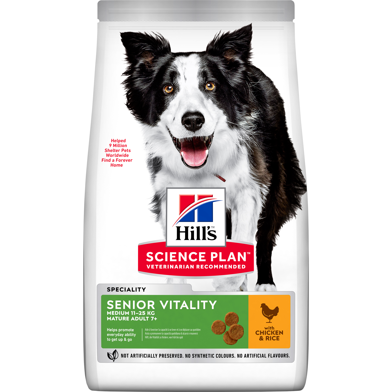 Hundfoder Hills Science Plan Youthful Vitality Adult 7+ Medium Chicken, 2,5 kg