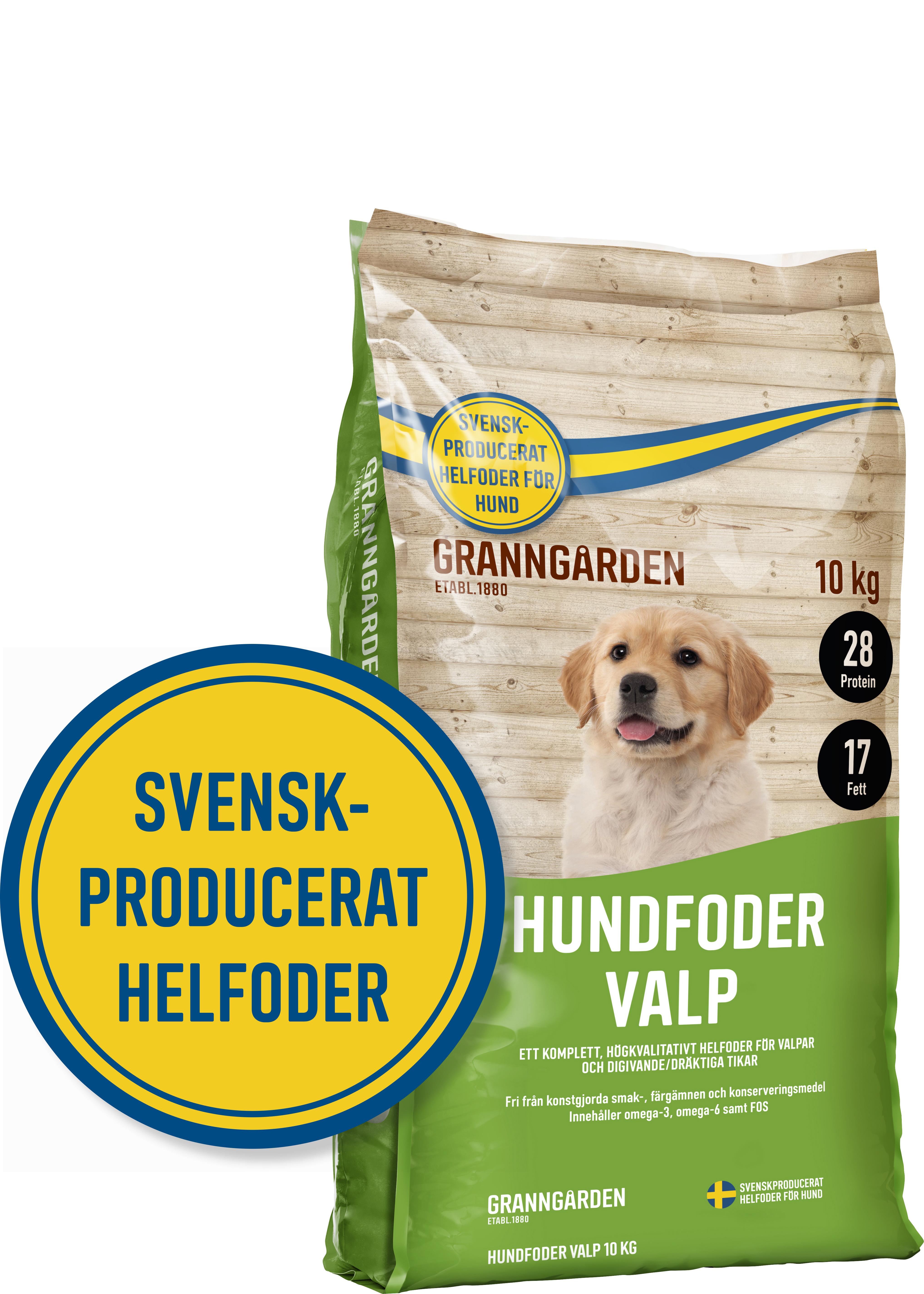 Hundfoder Granngården Valp, 10 kg