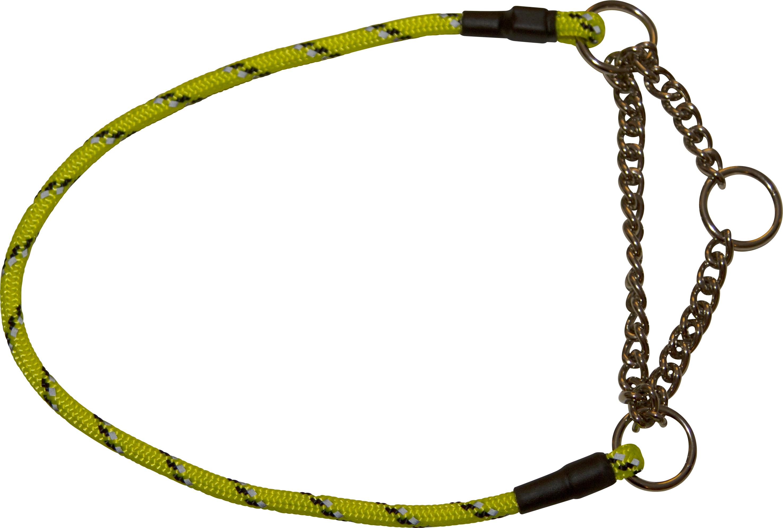 Reflexhalsband Pritax halvstryp, gul 50 cm