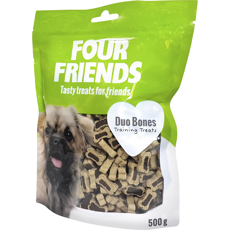Hundgodis Four Friends Duo Bones, 500 g