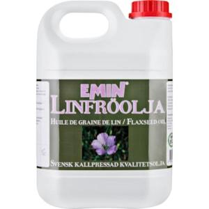 Fodertillskott Emin Linfröolja, 2,5 l