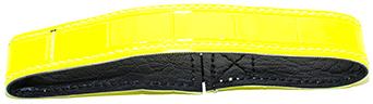Hundhalsband Reflex med resår, gul 50 cm