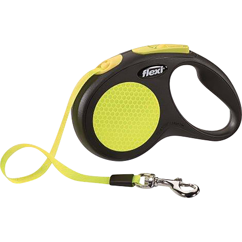 Hundkoppel Flexi New Neon Band, 5 m S - upp till 15 kg