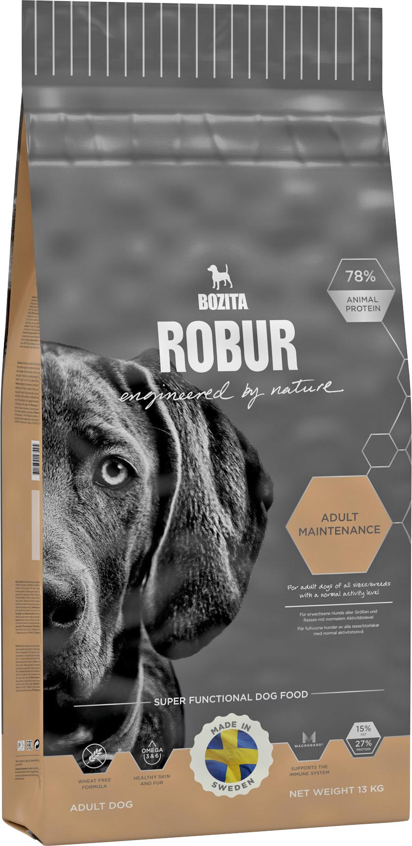 Hundfoder Bozita Robur Adult Maintenance, 13 kg