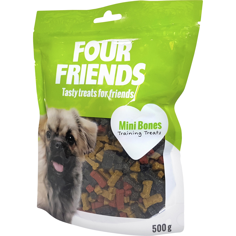 Hundgodis Four Friends Mini Bones, 500 g