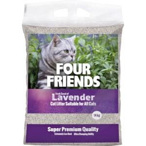 Kattsand Four Friends Lavendel, 14 kg