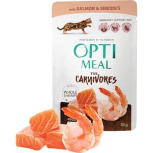 Kattmat Optimeal All Ages Grain Free Salmon & Shrimps in Gravy, 85 g
