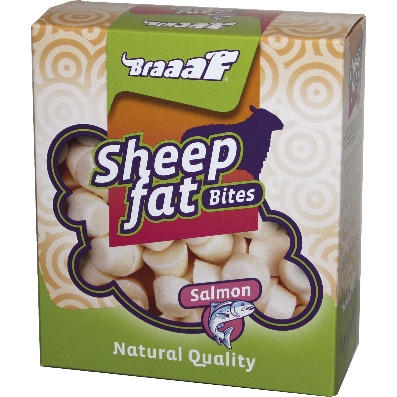 Hundgodis Braaaf Sheep Fat Bites Salmon