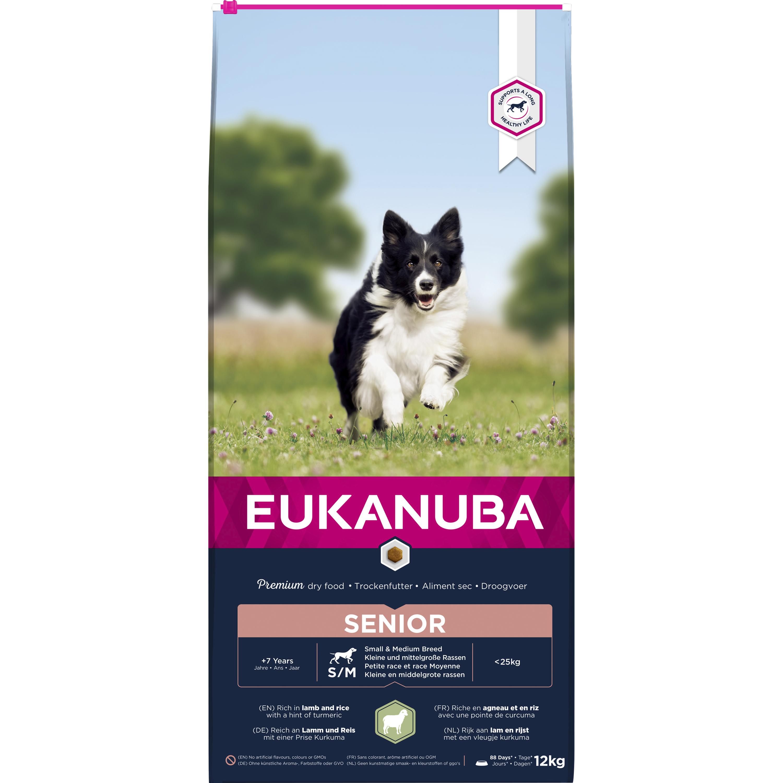 Hundfoder Eukanuba Mature & Senior All breeds Lamm och Ris, 12 kg