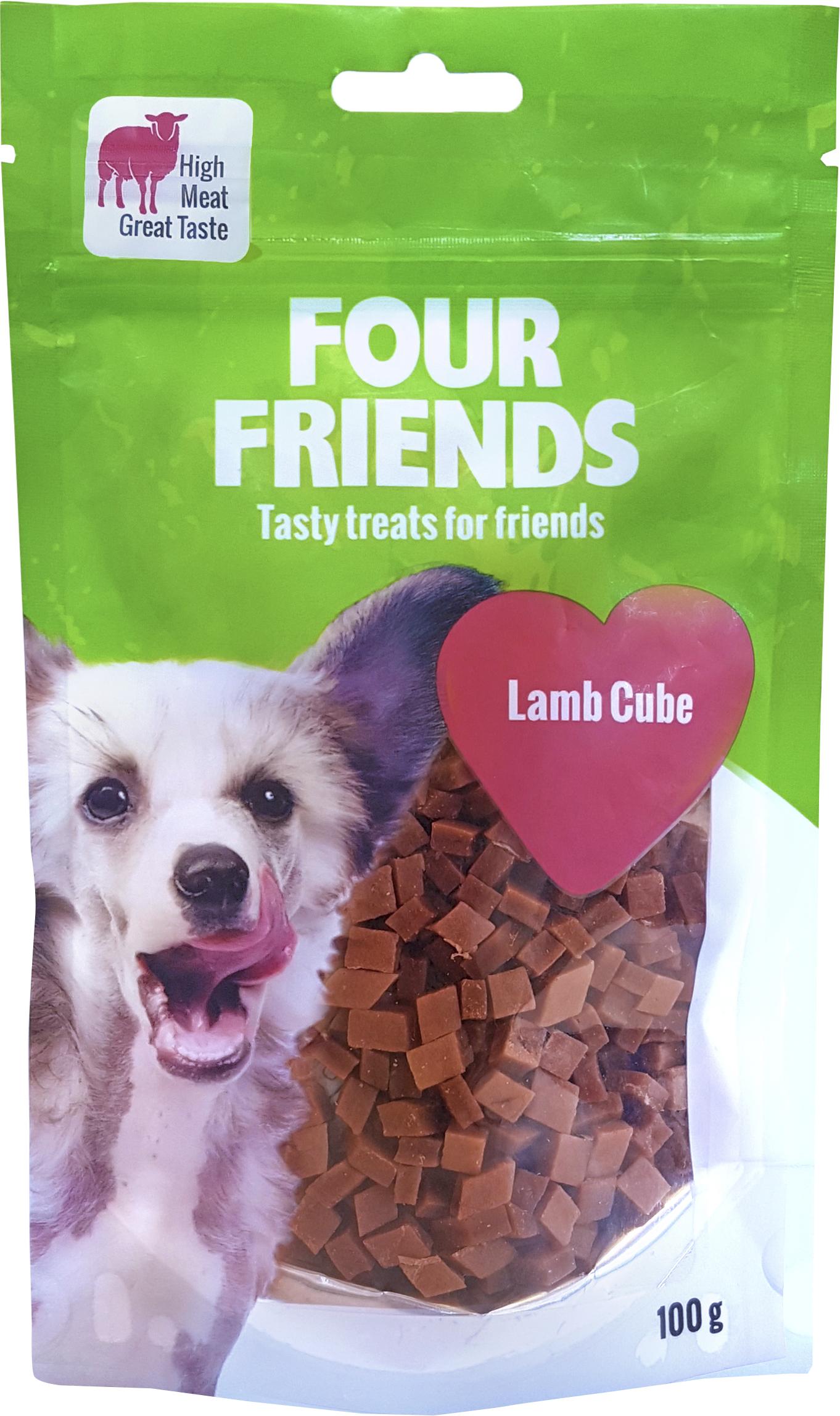Hundgodis Four Friends Lammbitar, 100 g