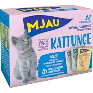 Kattmat Mjau Menybox Kattunge, 12 x 85 g