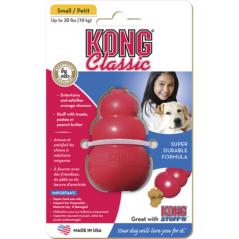 Hundleksak Kong Classic Small, Röd