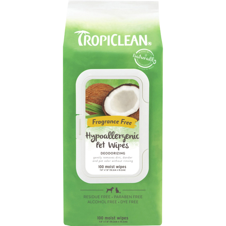 Tvättlappar TropiClean Hypoallergenic, 100-pack