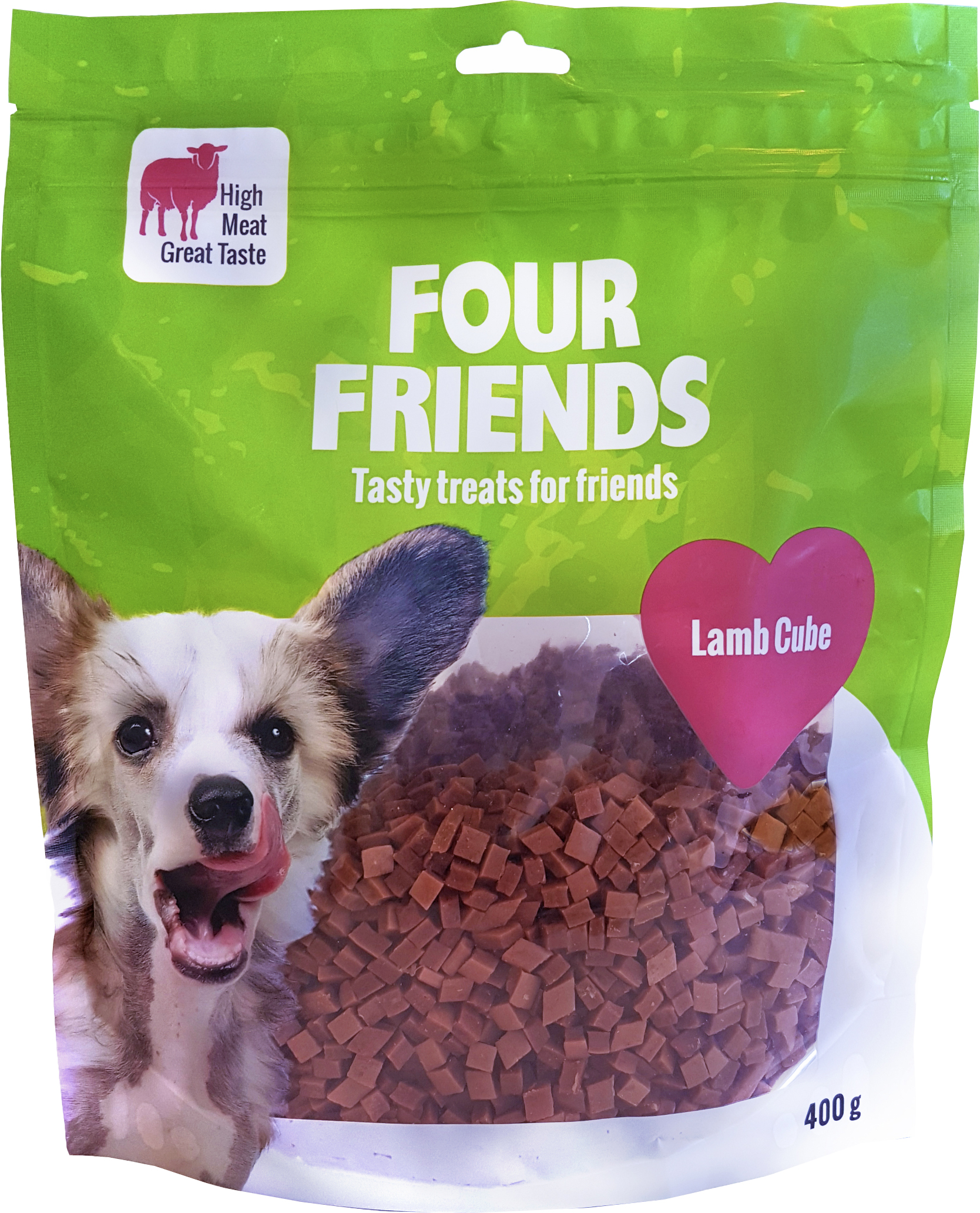 Hundgodis Four Friends Lammbitar, 400 g