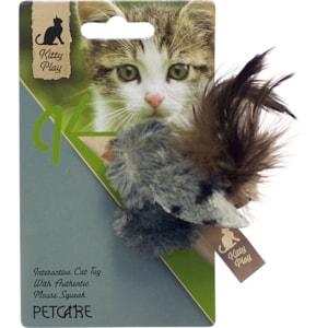 Kattleksak Kitty Play Fågel med pip