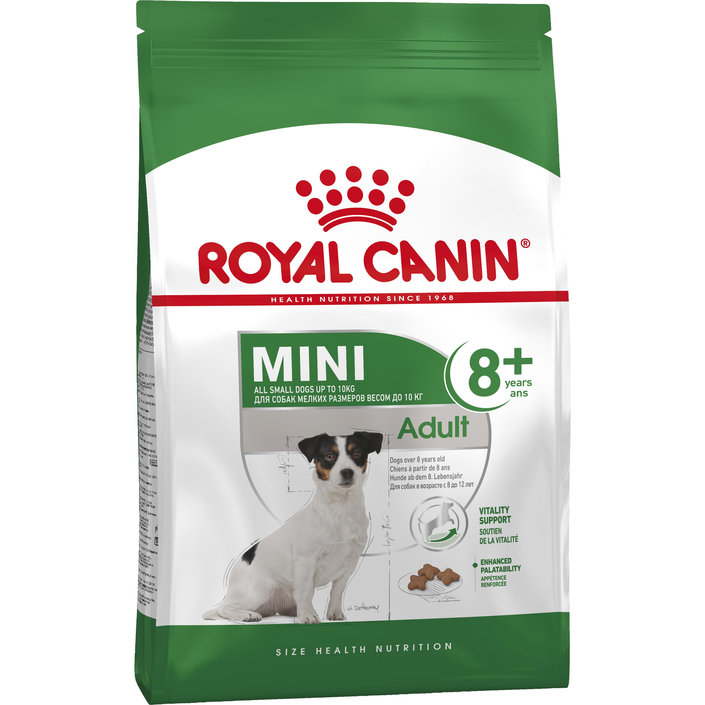Hundfoder Royal Canin Mini Adult +8, 2 kg