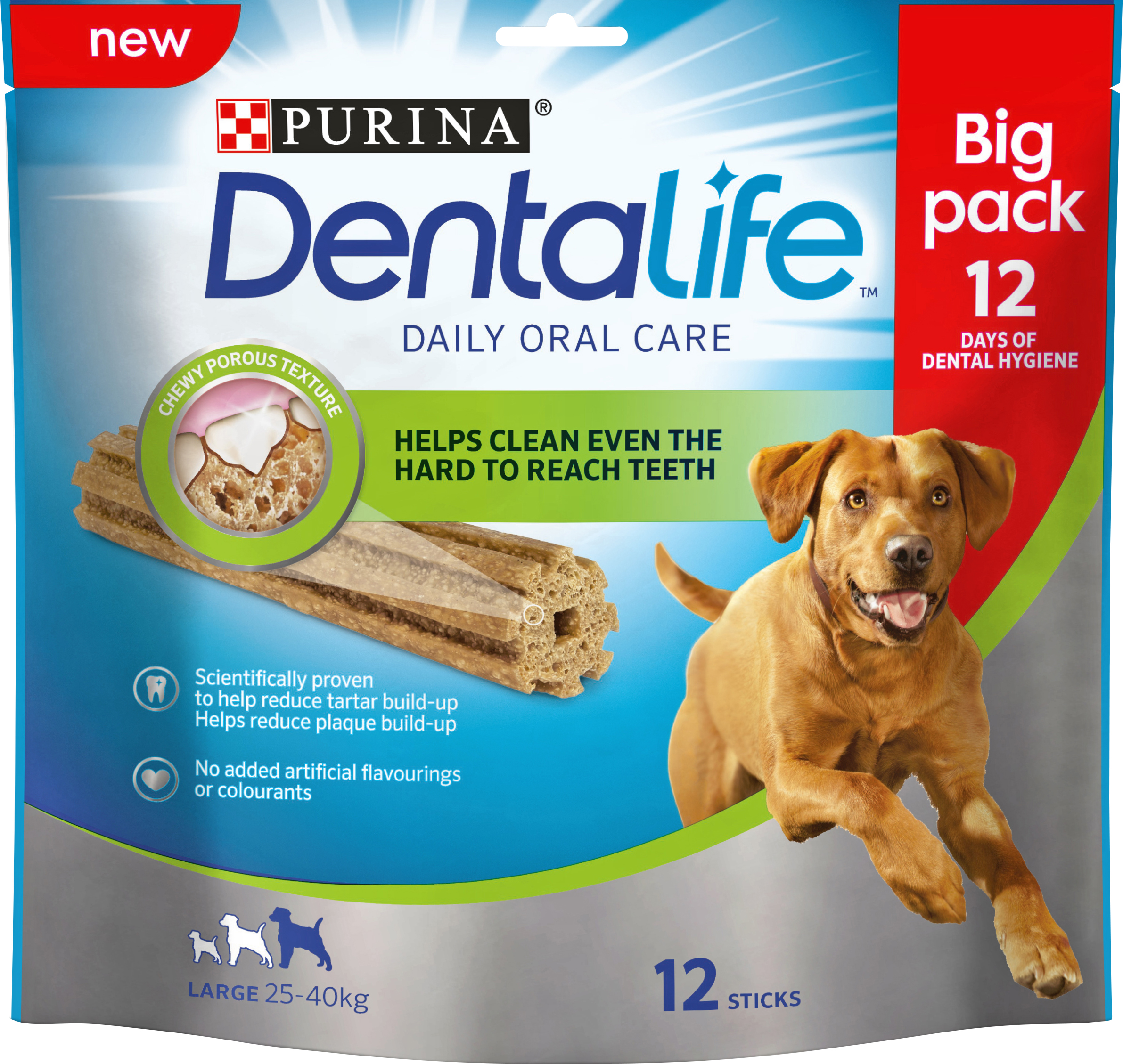 Hundtugg Purina DentaLife Large, 12-pack