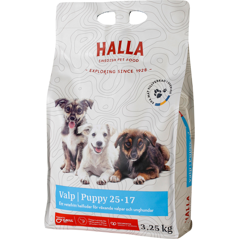 Hundfoder Halla Valp, 3,25 kg
