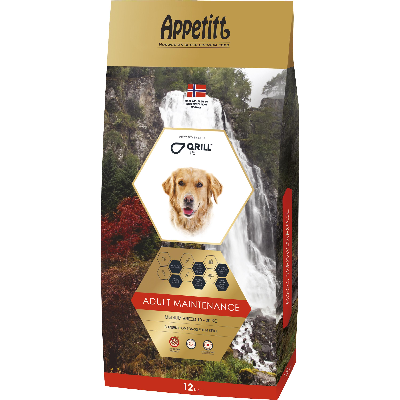 Hundfoder Appetitt Adult Maintenance Medium Breed, 12 kg