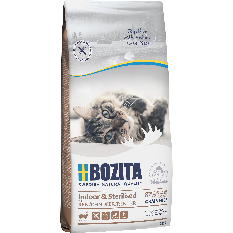 Kattmat Bozita Feline Indoor and Sterilised Ren, 2 kg