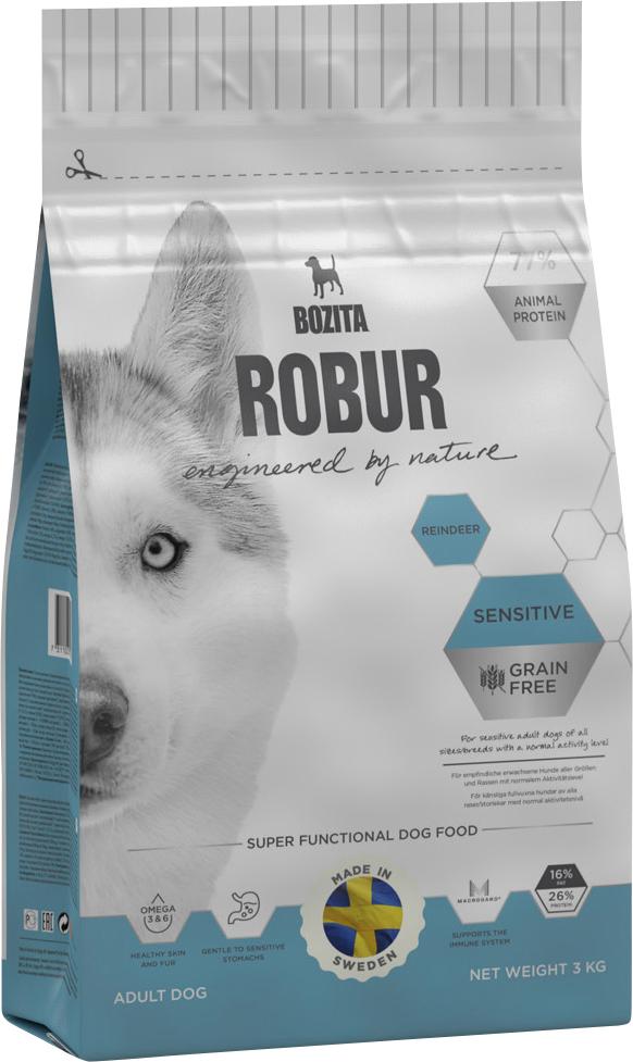 Hundfoder Bozita Robur Sensitive Grain Free Reindeer, 3 kg