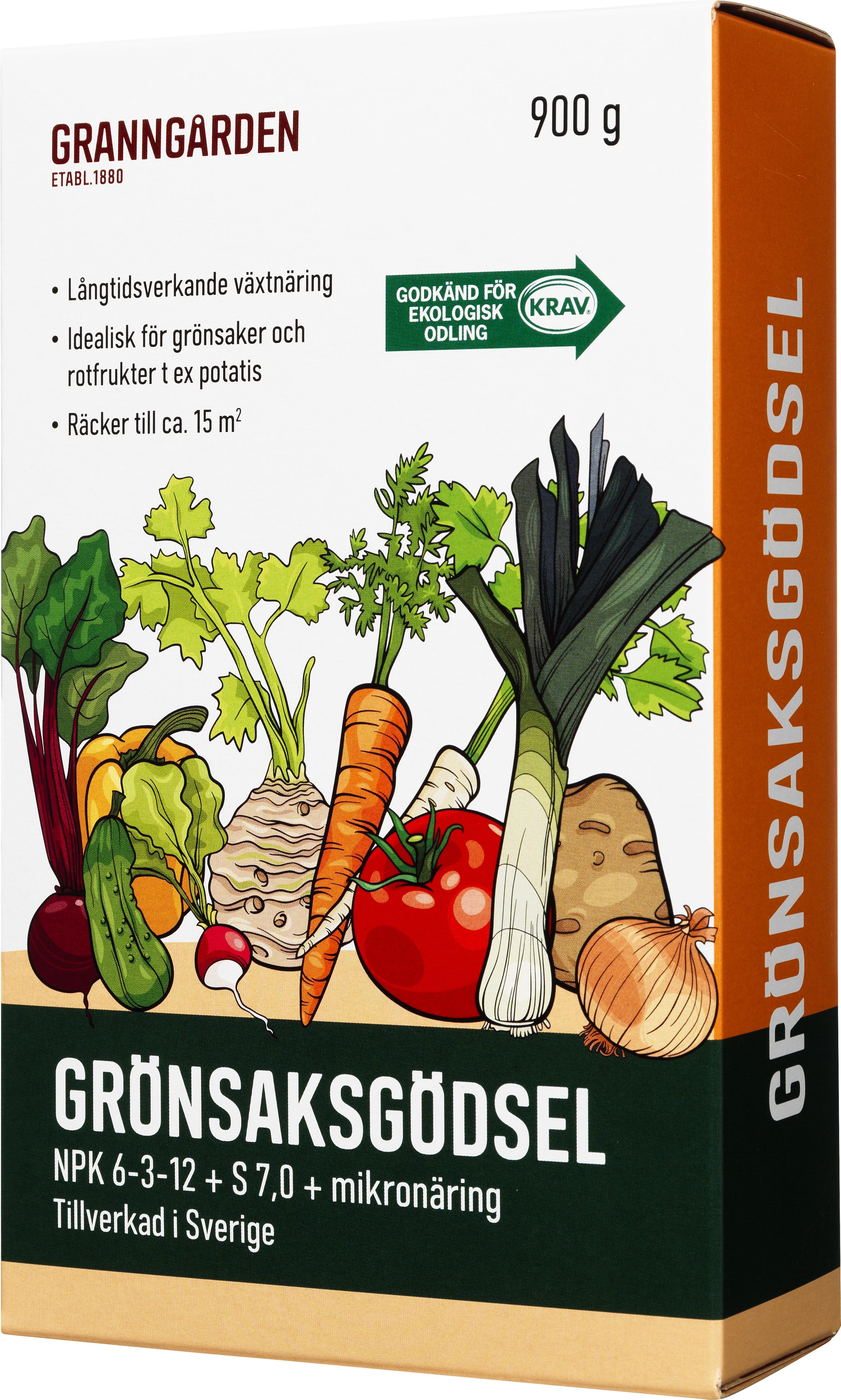 Grönsaksgödsel Granngården, 0,9 kg