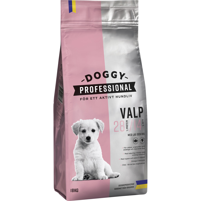 Hundfoder Doggy Professional Valp, 18 kg