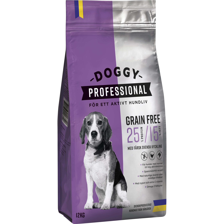Hundfoder Doggy Professional Grain Free, 12 kg
