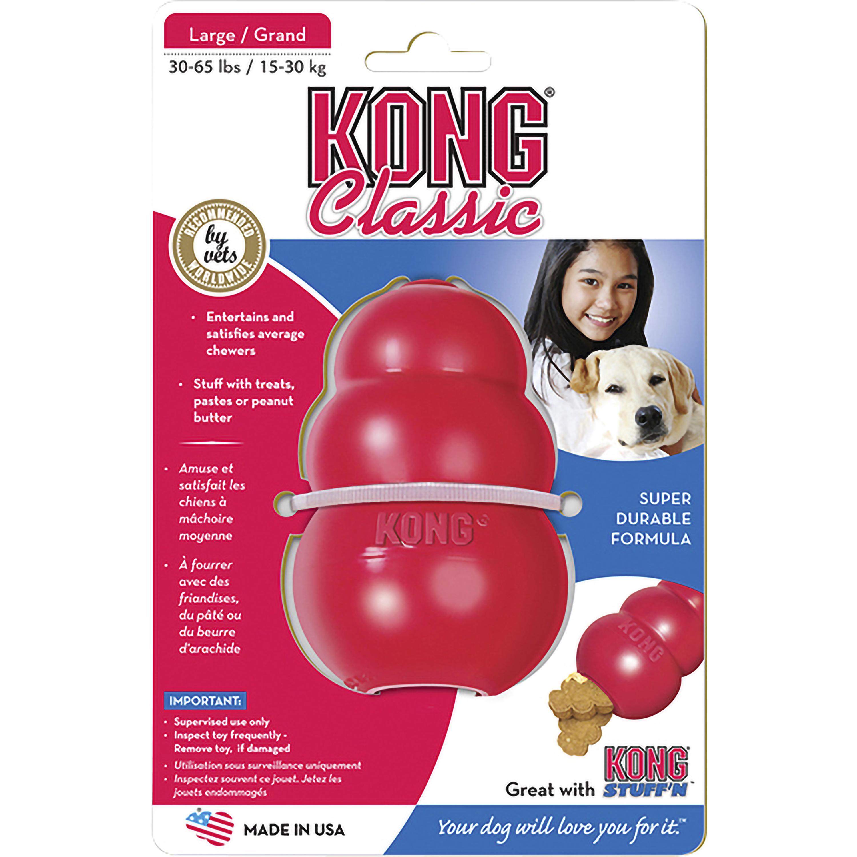 Hundleksak Kong Classic Large, Röd