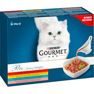 Kattmat Gourmet Perle Menybox Gravy Delight, 8 x 85 g