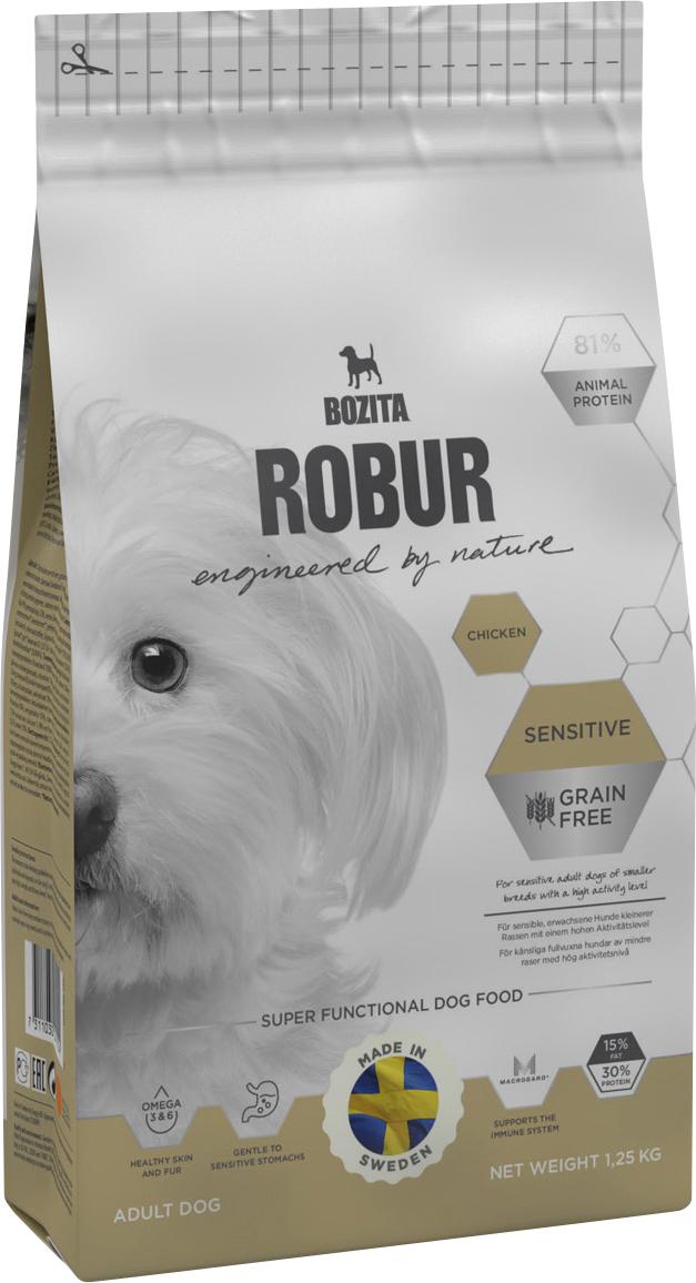 Hundfoder Bozita Robur Sensitive Grain Free Chicken, 1,25 kg