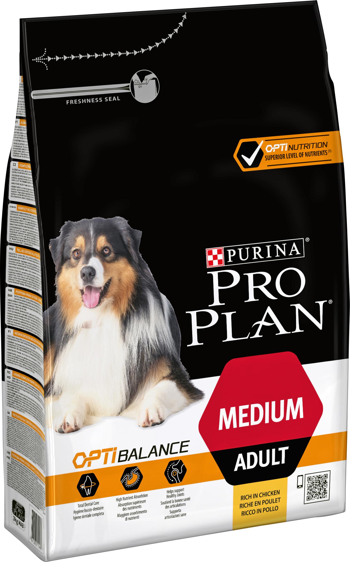 Hundfoder Pro Plan Medium Adult, 3 kg