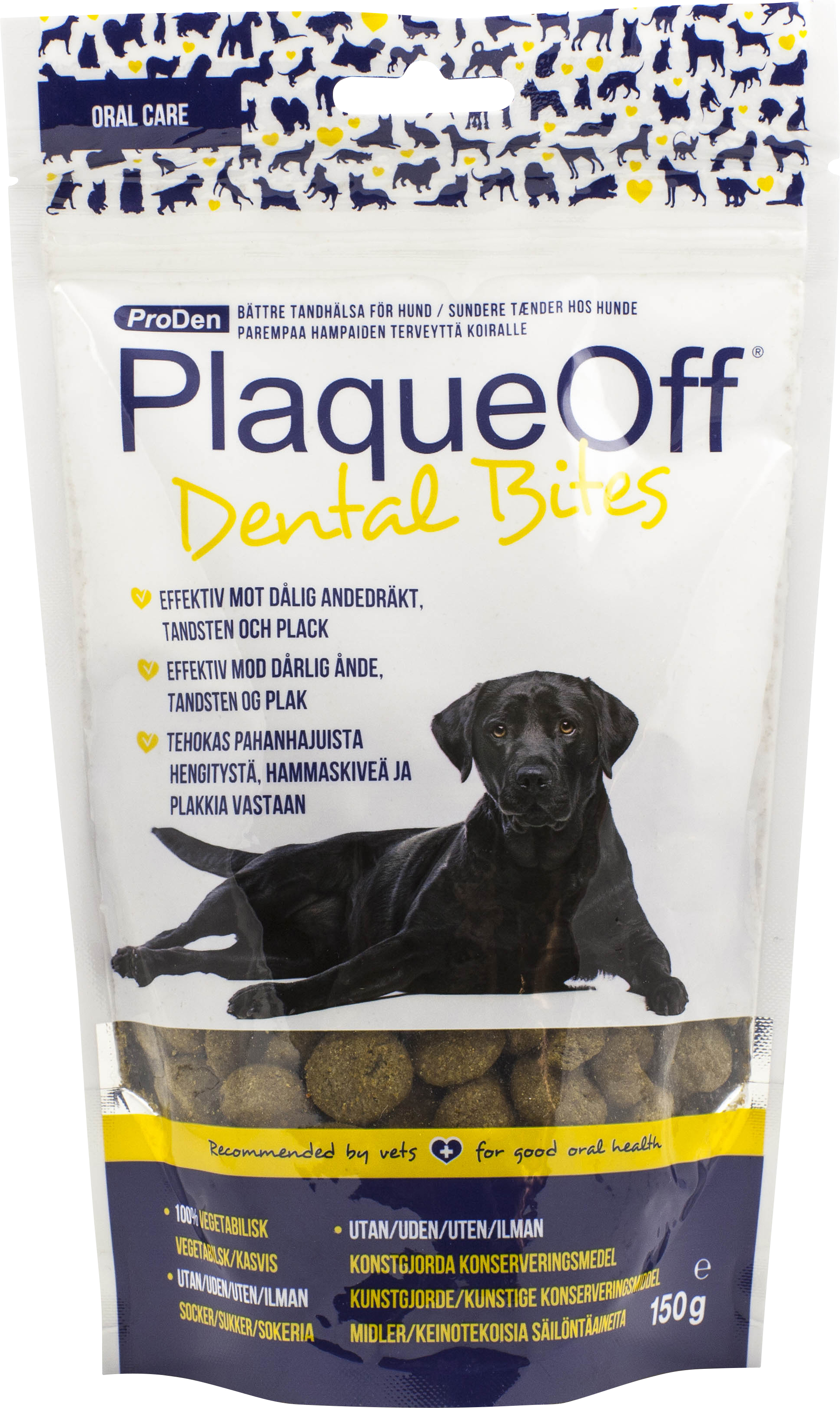 Hundgodis PlaqueOff Dental Bites 150 g