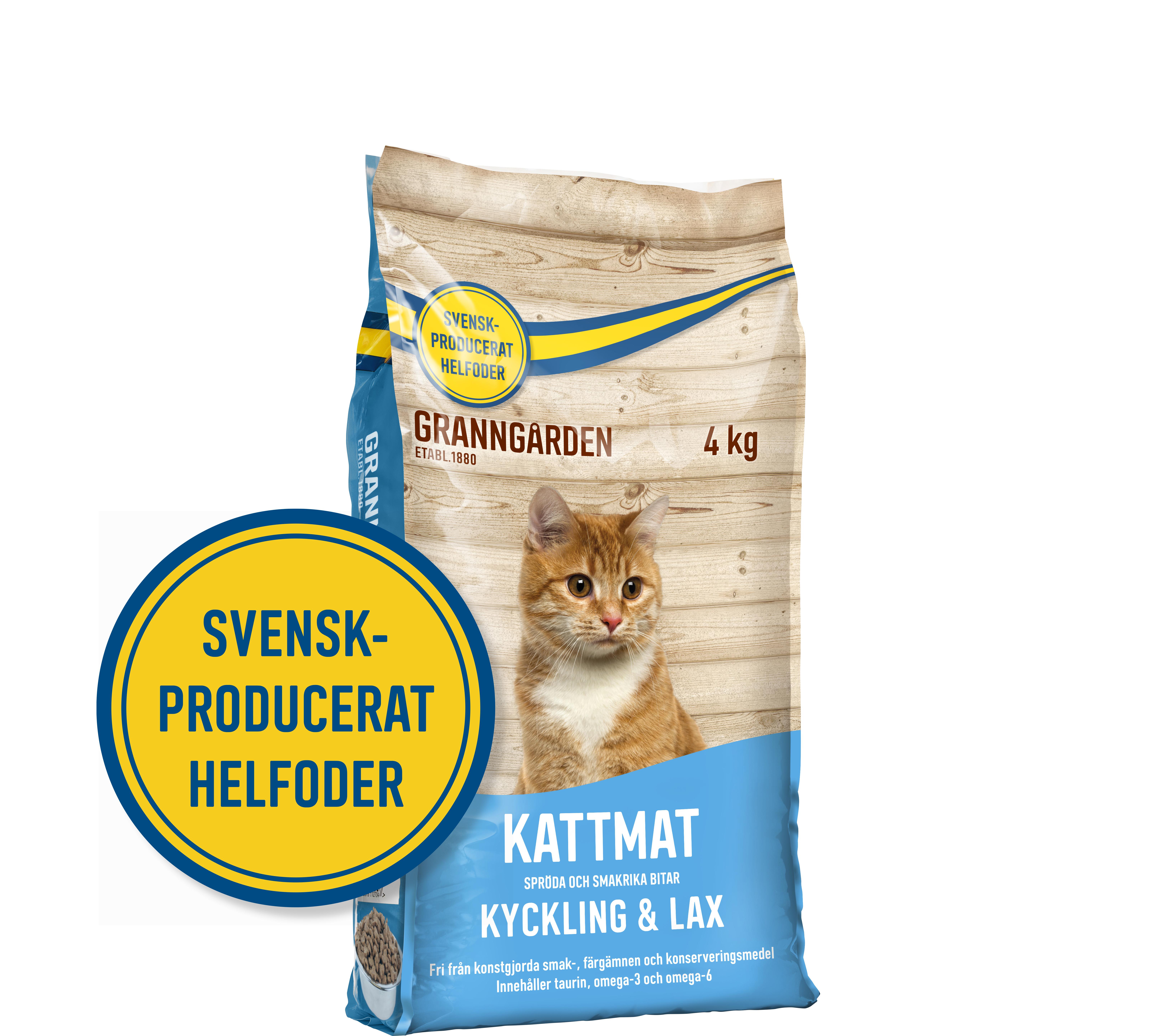 Kattmat Granngården Kyckling & Lax, 4 kg