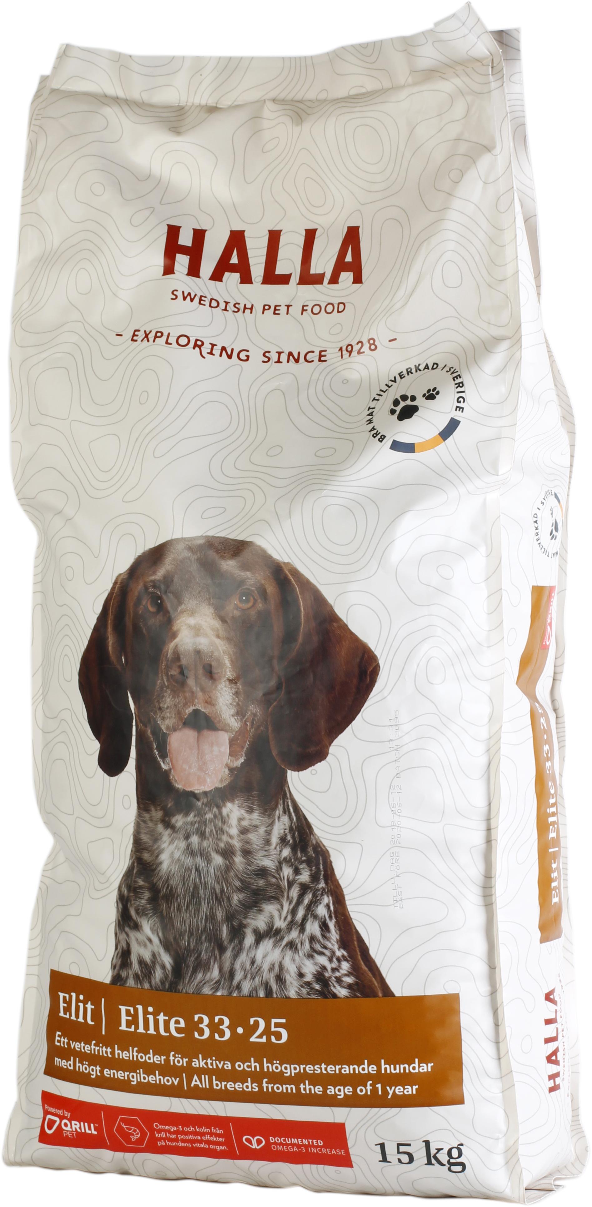 Hundfoder Halla Elit, 15 kg
