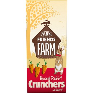 Gnagargodis Tiny Friends Farm Russel Rabbit Crunchers Morot, 120 g