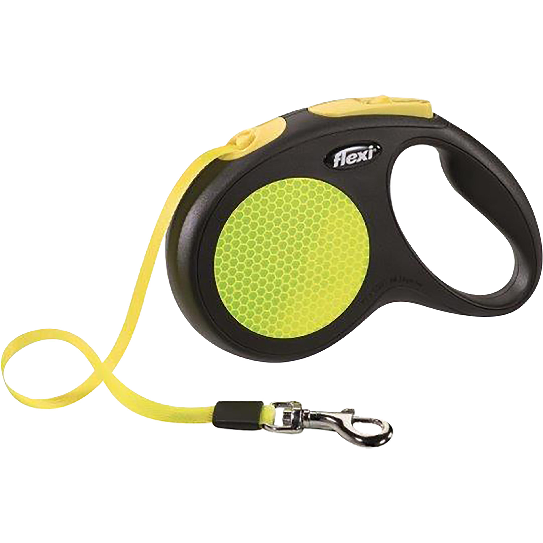 Hundkoppel Flexi New Neon Band, 5 m M - upp till 25 kg