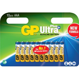 Batteri GP Alkaline Ultra Plus AA, 10-pack