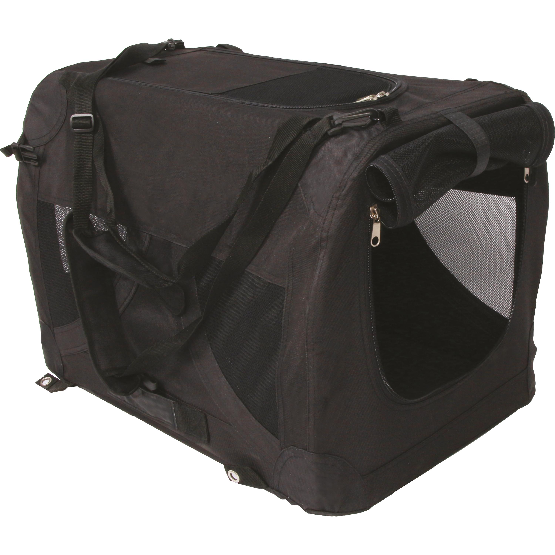 Canvasbur M-Pets Comfort Crate Svart, XXL
