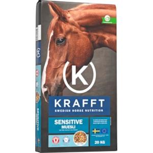 Hästfoder Krafft Sensitive Muesli, 20 kg