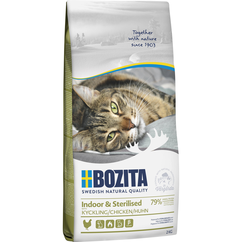 Kattmat Bozita Feline Indoor and Sterilised Kyckling, 2 kg