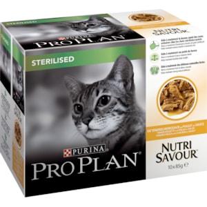 Kattmat Pro Plan Menybox Sterilised, 10 x 85 g